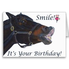 Happy Birthday Hunter/Jumper Greeting Card Colorful birthday card for the equestrian in your life. Personalize the inside of the card to your needs! #funny #horse