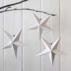 Hanging star decorations.