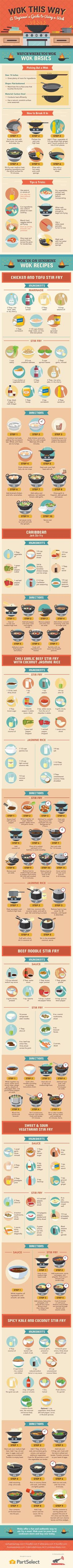 Wok This Way: A Beginner's Guide to Using A Wok #Infographic