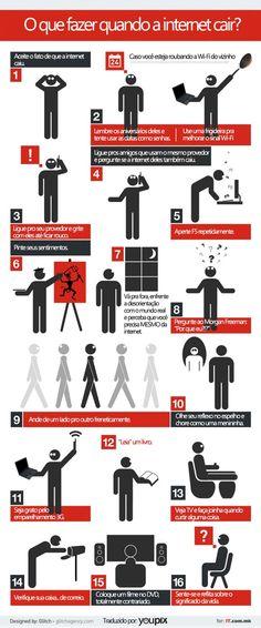 O que fazer quando a Internet cai. #Infografico