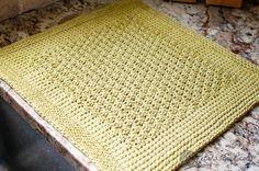 Tunisian crochet kitchen mat