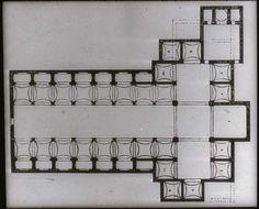 Plan. Old Sacristy, S. Lorenzo. Florence. 1421-28   #Brunelleschi #architecture