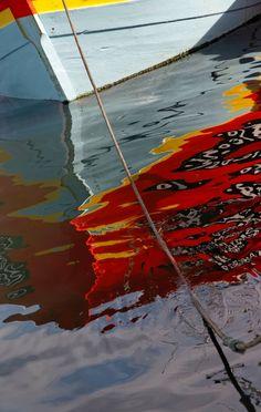 reflet coque bateau port du Guilvinec