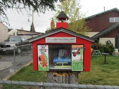 Perhaps the world's smallest library?    Outside a house in Leadville..