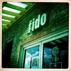 My favorite coffee shop in America! Fido Coffee House in Nashville