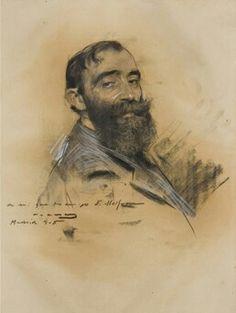Ramon Casas Fine Art Drawing, Guy Drawing, Drawing People, Painting & Drawing, Art Drawings, Portrait Sketches, Pencil Portrait, Portrait Art, Sketching Techniques
