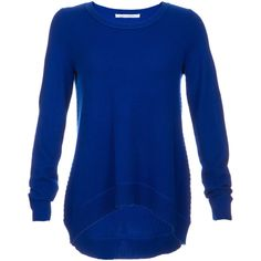 Diane Von Furstenberg Cashmere Sweater (390 CAD) ❤ liked on Polyvore featuring tops, sweaters, shirts, long sleeves, blusa, cobalt blue, diane von furstenberg shirt, boxy shirt, cobalt blue sweater and long sleeve tops