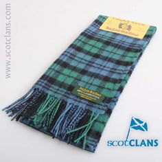 Campbell Tartan Lambswool Scarf. Free worldwide shipping available
