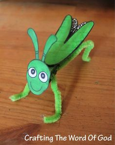 The Ten Plagues Of Egypt Crafts The Plague Of Locusts Clothespin Grasshopper Sunday School Activities, Sunday School Lessons, Sunday School Crafts, Preschool Bible, Bible Activities, Frog Crafts, Kids Crafts, Moses Crafts, Plagues Of Egypt