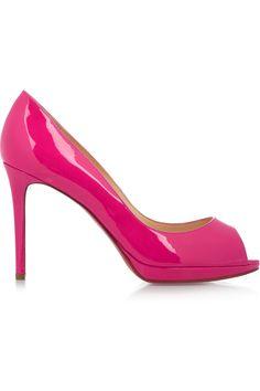 Christian Louboutin|Yolanda 100 patent-leather pumps|NET-A-PORTER.COM