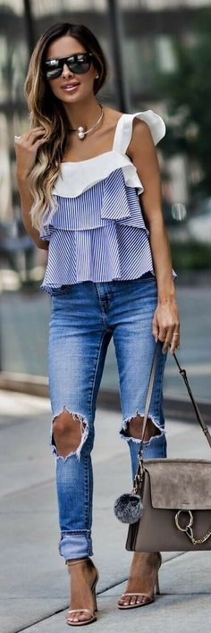 Outfits ideas & inspiration : Today you will know the best Blouse Designs that you should have this season, so you can look completely on Trend. Cool Outfits, Summer Outfits, Casual Outfits, Fashion Outfits, Womens Fashion, Spring Outfits Curvy Women, Women's Casual, Plus Size Womens Clothing, Plus Size Fashion