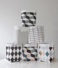 Panier textile graphique
