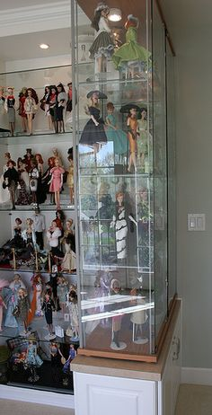Ikea display shelves in doll room by think_pink1265, via Flickr