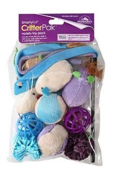SmartyKat Critter Pack Variety Cat Toy 12 Pack * More info could be found at the image url.Note:It is affiliate link to Amazon.