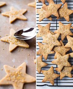 Flavorful maple cinnamon star cookies using a basic and easy sugar cookie dough! Butter Sugar Cookies, Easy Sugar Cookies, Star Cookies, Sugar Cookie Dough, Christmas Sugar Cookies, Christmas Sweets, Gingerbread Cookies, Christmas Holidays, Minnie Mouse Birthday Cakes
