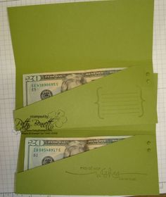 Gift Card Holder-Money (inside)  stampin up note to self - vertical for ribbon grad card