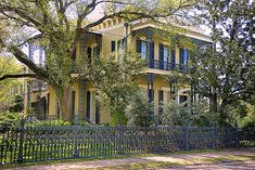 One of many beautiful homes in the Garden District