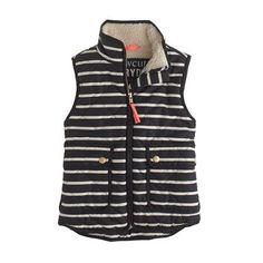 J.Crew - excursion quilted vest in stripe.