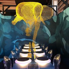 """""""The Elephant in the Room"""" Pratt Institute table at Dining by Design. Barry Richards mentor. @prattinstitute ..."""
