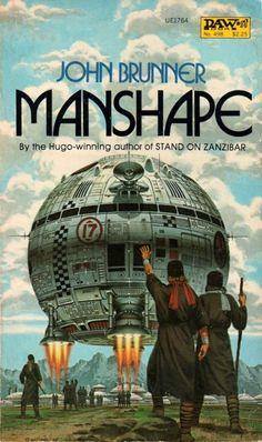 Manshape(1982)by John Brunner. 1982 cover by David B. Mattingly.