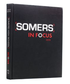 Somers High School | 2015 Yearbook Cover | Black & White Cover Inspiration | Printed by Herff Jones