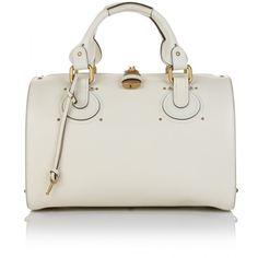Chloé Aurore Duffle Leather Bag ($1,615) ❤ liked on Polyvore featuring bags, handbags, tote bags, bolsas, purses, borse, women, leather hand bags, tote purse and genuine leather handbags