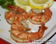 Shrimps in oil and oregano Greek Recipes, Bon Appetit, Food To Make, Shrimp, Seafood, Food And Drink, Lose Weight, Vegetarian, Tasty