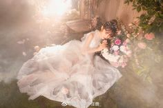 Fairy Photography, Photoshoot Concept, Shirred Dress, Fairytale Dress, Long Wedding Dresses, Poses, Couture Dresses, Ulzzang Girl, Beautiful Gowns