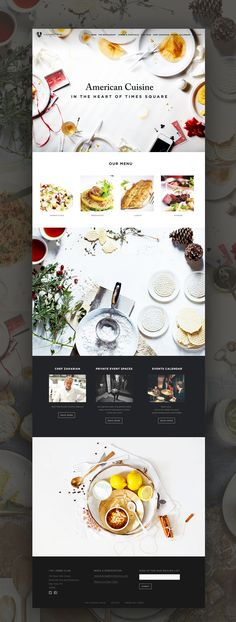 American Cuisine Website Design