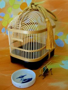 Japanese insect cage, reproduction of Yamato era style.