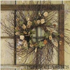 Twig & Tin Daisy Wreath