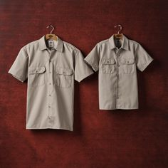 Classic Dickies Work Shirt for the adult and the little one. This shirt has the same great body style as our 1574 Short Sleeve Work Shirt but with Flex fabric. The mechanically stretched fabric increases the durability and longevity of this shirt so you can keep it longer than your average shirts. Designed to provide unprecedented comfort and mobility while maintaining the durability of a classic Dickies work shirt, this next generation shirt employs innovative textile technology. Twill Shirt, Mens Gear, Work Shirts, Shirt Dress, Fabric, Technology, Sleeve, Classic, Closet