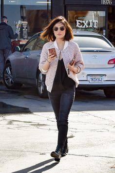 Lucy Hale is seen leaving Trader Joe's in Studio City.