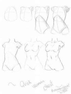 Learn To Draw People - The Female Body - Drawing On Demand Anatomy Sketches, Body Sketches, Anatomy Drawing, Anatomy Art, Drawing Sketches, Art Drawings, How To Draw Anatomy, Sketching, Drawing Practice