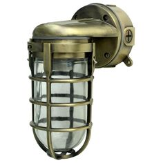 Woods Traditional Incandescent Weather Industrial Light, Suitable for Indoor and Outdoor Use, Wall Mount, Metal Die Cast Construction and Tempered Glass Lens, Antique Brass Outdoor Post Lights, Outdoor Wall Lantern, Hanging Lanterns, Outdoor Walls, Industrial Ceiling Lights, Industrial Light Fixtures, Wall Light Fixtures, Porch Lighting, Wall Sconce Lighting