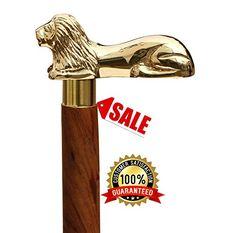 Nickel Plated Elegant Brass ornamental knob brass hardwood cane walking stick