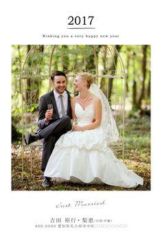 New Years Card | sora(gallery) 結婚報告の年賀状デザイン #justmarried #年賀状 #結婚式 #結婚報告 #newyearscard #年賀状デザイン