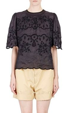 Isabel Marant Embroidered Voile Rumba Top at Barneys New York
