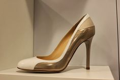 Fragiacomo white, blush and gold shoes