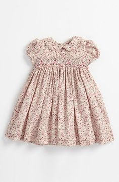 Luli & Me Floral Smocked Dress (Infant) | Nordstrom