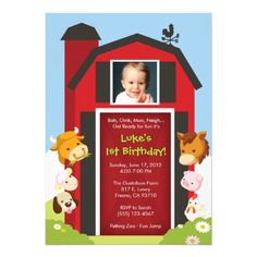 Shop Down on the Farm - Birthday Party Invitation created by WhirlibirdExpress. Farm Animal Birthday, Farm Birthday, 1st Birthday Parties, Birthday Ideas, Horse Birthday, Diy Invitations, Birthday Party Invitations, Invitation Cards, Invites