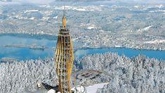 Pyramidenkogel im Winter Klagenfurt, Burj Khalifa, Where To Go, Winter, Skiing, National Forest, Road Trip Destinations, Winter Time, Ski
