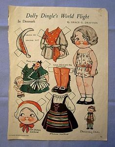 Dolly Dingle paper doll, Pictorial Review, 1932