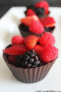 Chocolate Dessert Cups | Lexiscleankitchen.com