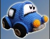 blue crochet car pattern