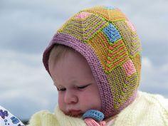 #160 Domino Baby Bonnet