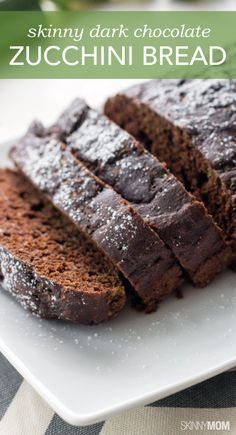 You have to try this delicious dark chocolate zucchini bread out for a healthy dessert!