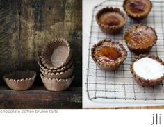 chocolate coffee brulee tarts