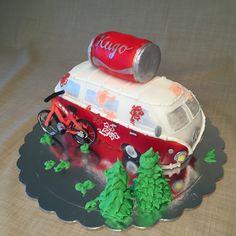 VW Bus Mountainbike Torte Cake Birthday