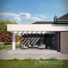 Projekt domu HomeKONCEPT-32 | HomeKONCEPT New House Plans, Future House, New Homes, How To Plan, Outdoor Decor, Design, Home Decor, Houses, Home